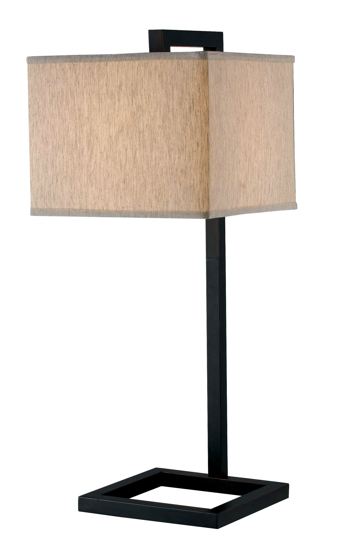 Home 21079ORB 4 Square Desk Lamp