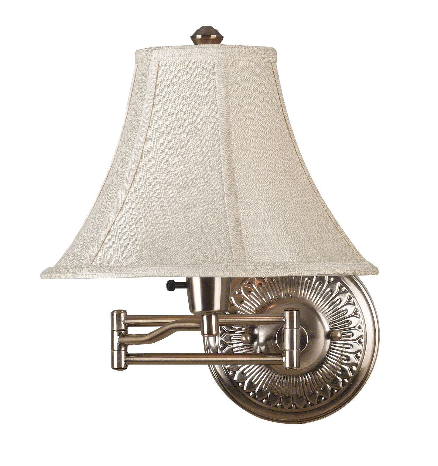 Kenroy Home 21395brbr Amherst Swing Arm Wall Lamp 3 Way Brass Light Switch
