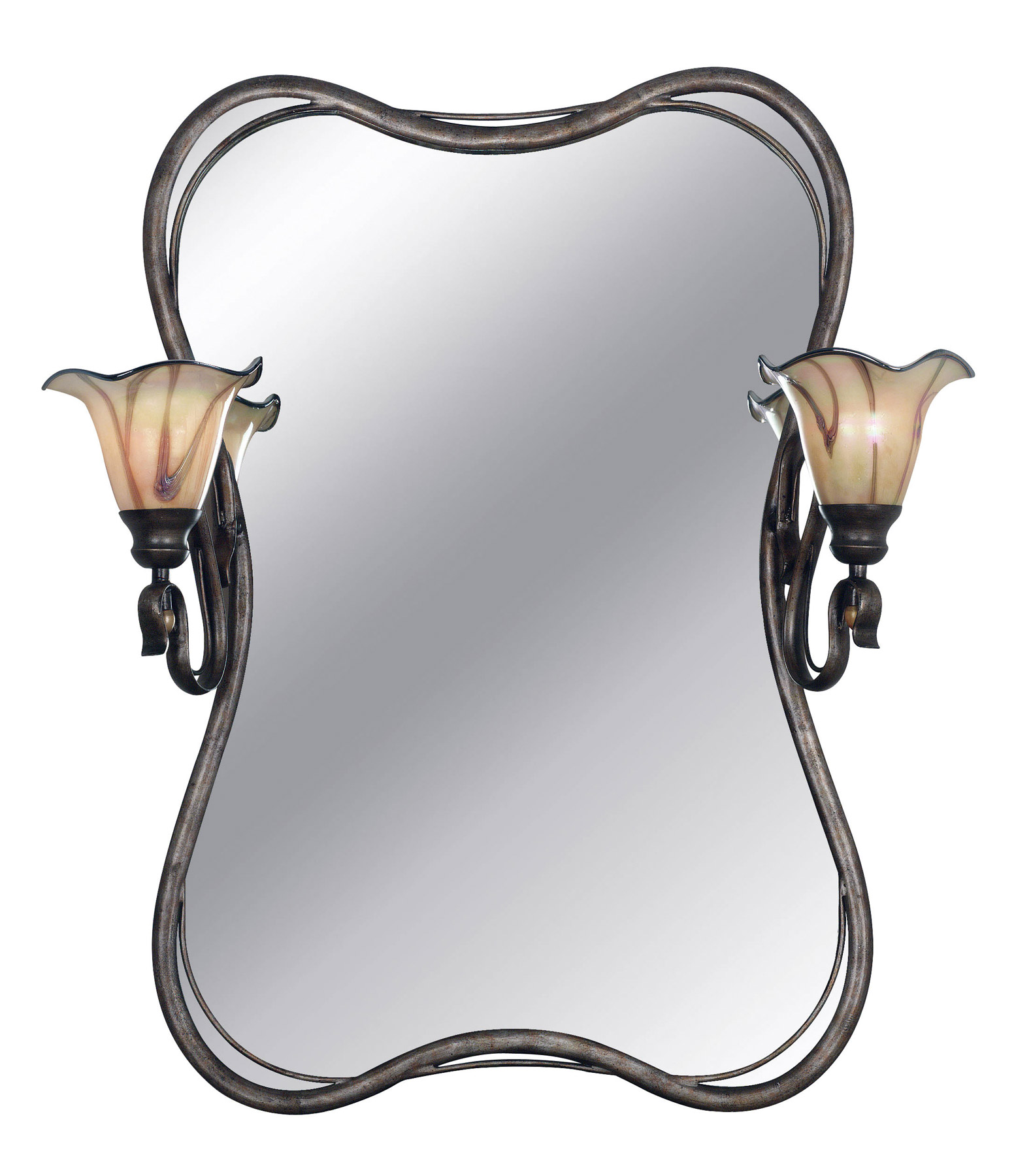 Kenroy Home 90890TS Inverness 2 Light Vanity Mirror. Mirrors With Lights   Lamps Beautiful