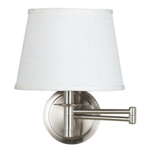 Kenroy Home 21011BS Sheppard Swing Arm Wall Lamp