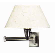 Kenroy Home 30110BS Simplicity Swing Arm Wall Lamp