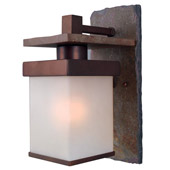 Transitional Boulder Indoor/Outdoor Wall Lantern - Kenroy Home 70282COP