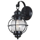 Traditional Hatteras Indoor / Outdoor Wall Lantern - Kenroy Home 90961BL