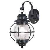 Traditional Hatteras Indoor / Outdoor Wall Lantern - Kenroy Home 90962BL