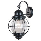 Traditional Hatteras Indoor / Outdoor Wall Lantern - Kenroy Home 90963BL