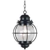 Traditional Hatteras Indoor / Outdoor Hanging Lantern - Kenroy Home 90965BL