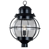 Traditional Hatteras Indoor / Outdoor Post Mount Fixture - Kenroy Home 90967BL