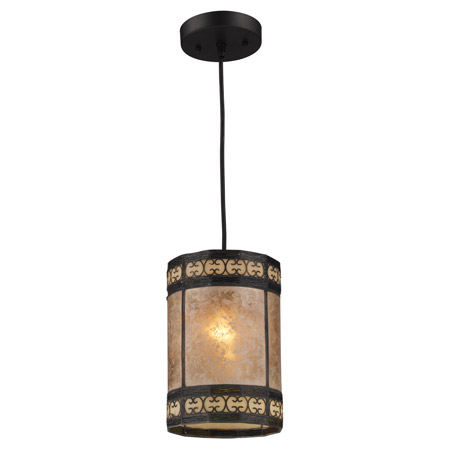 Elk Lighting 70066-1 Mica Filigree Mini Pendant