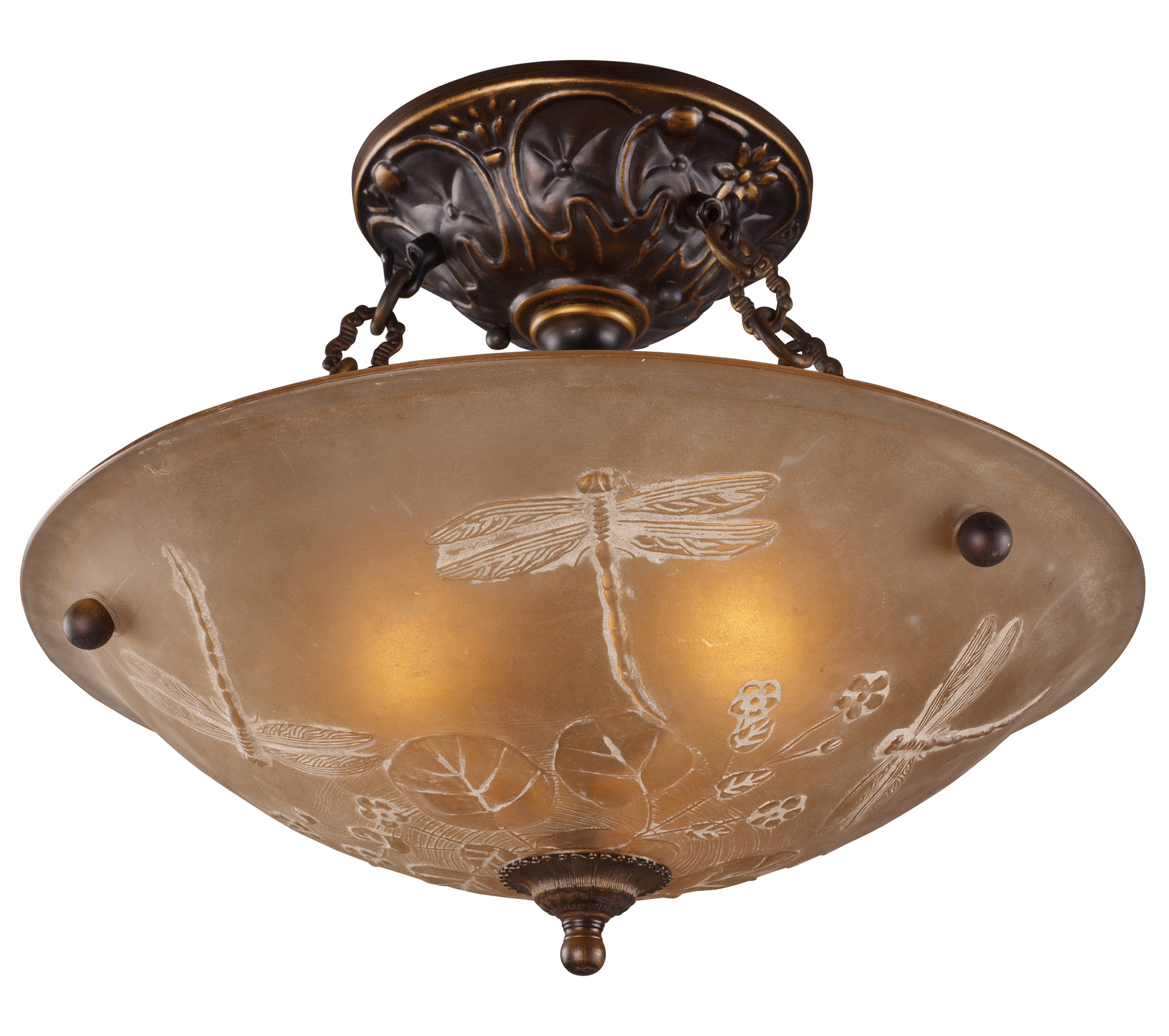 Elk Lighting 08096 AGB Restoration Semi Flush Ceiling Fixture