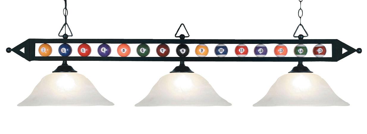 Elk Lighting 190 1 Bk G1 Billiard Ball Pool Table Lamp