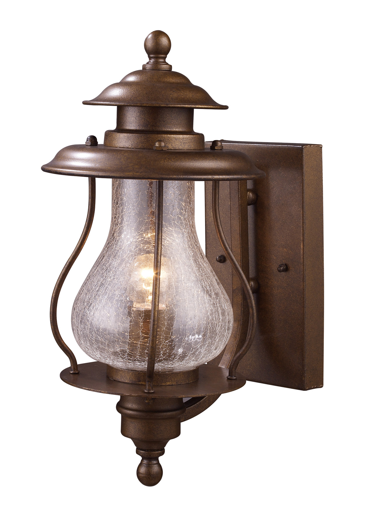 Lantern Type Wall Lights : Elk Lighting 62005-1 Wikshire Outdoor Wall Mount Lantern