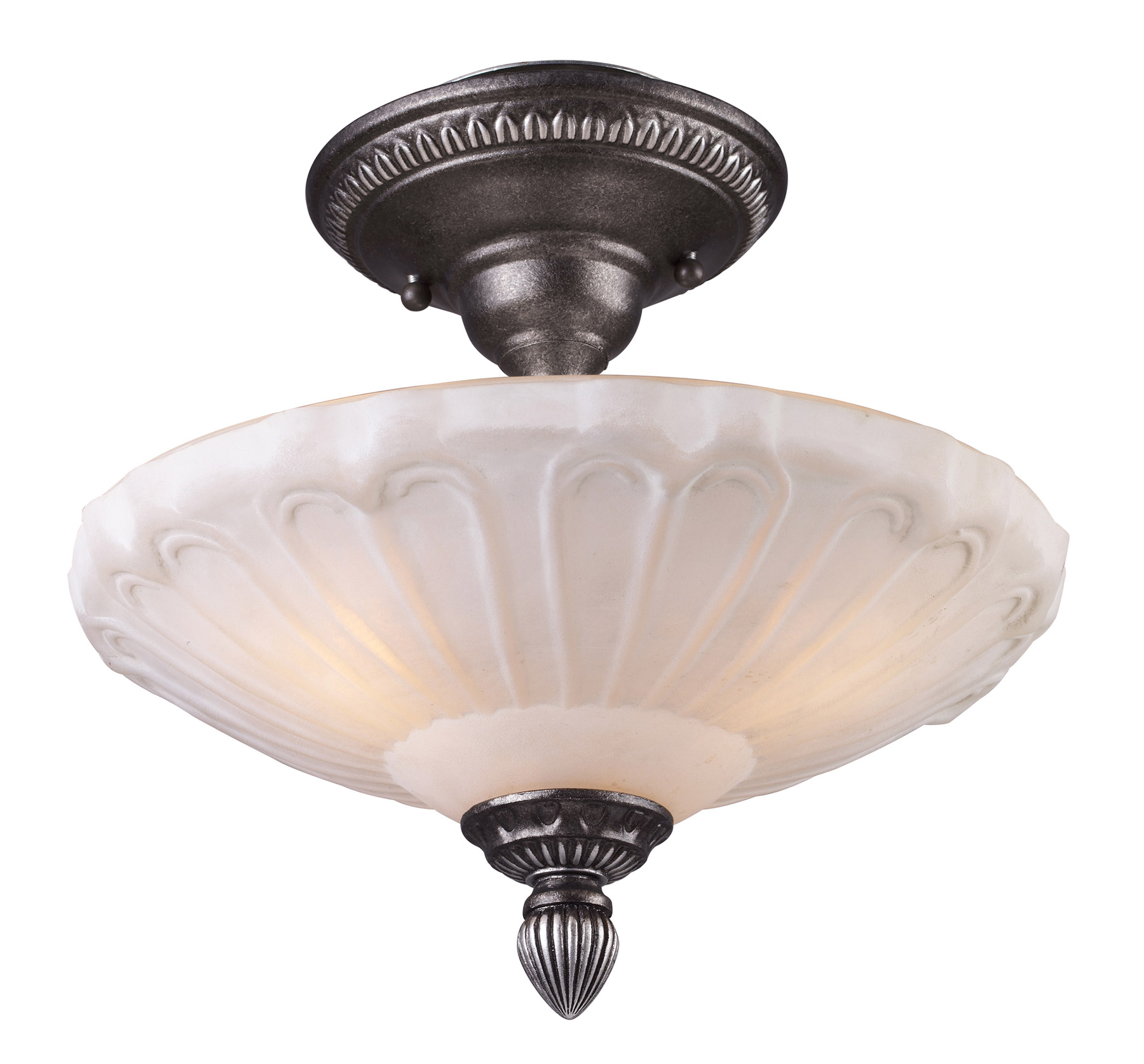 Elk Lighting Fans: Elk Lighting 66092-3 Restoration Semi-Flush Ceiling Fixture