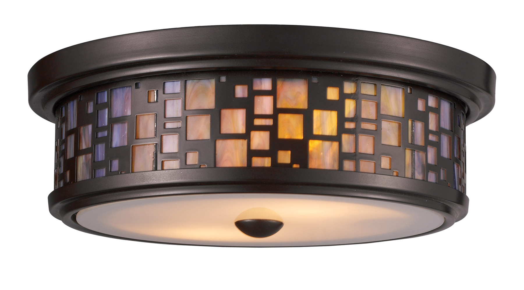 Elk Lighting 70027 2 Tiffany Flushes Flush Mount Ceiling Fixture