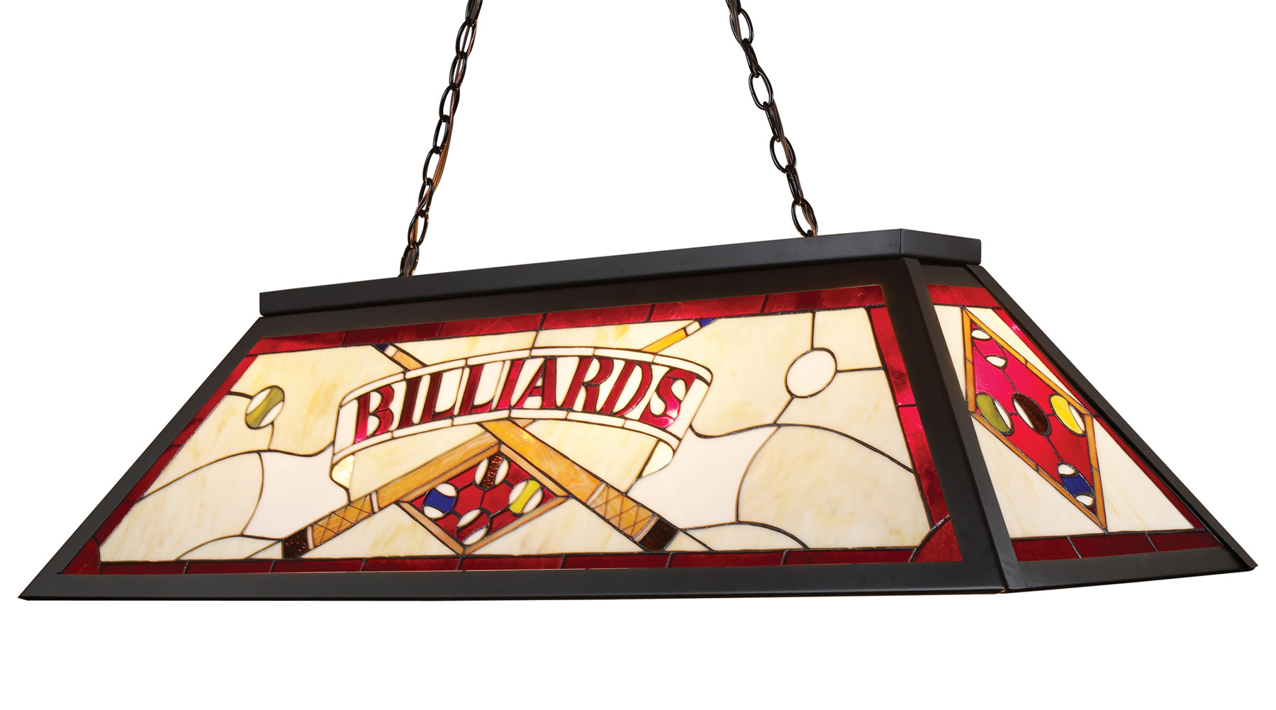 Elk lighting 70053 4 tiffany stained glass pool table light aloadofball Choice Image