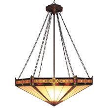 Elk Lighting 622 AB Tiffany Filigree Inverted Pendant