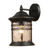 Classic/Traditional Madison Outdoor Wall Mount Lantern - Elk Lighting 08161-MBG