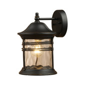Classic/Traditional Madison Outdoor Wall Mount Lantern - Elk Lighting 08162-MBG