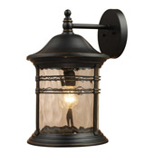 Classic/Traditional Madison Outdoor Wall Mount Lantern - Elk Lighting 08163-MBG