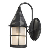 Rustic Rustica Exterior Wall Mount Lantern - Elk Lighting 381-BK