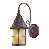 Rustic Rustica Outdoor Wall Mount Lantern - Elk Lighting 385-AC