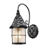 Rustic Rustica Exterior Wall Mount Lantern - Elk Lighting 385-BK