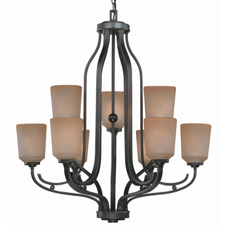 Lite Source Ls 19749 Rupert Nine Light Two Level Chandelier