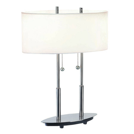 Lite Source LS-3821PS/WHT Bliss Table Lamp