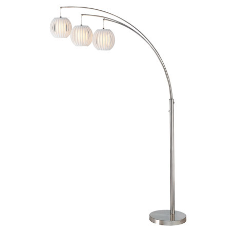Lite source ls 8871pswht deion floor lamp aloadofball Gallery