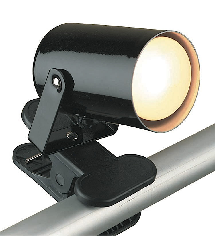 Source LS-119BLK Mini Spot Clamp-On Spotlight