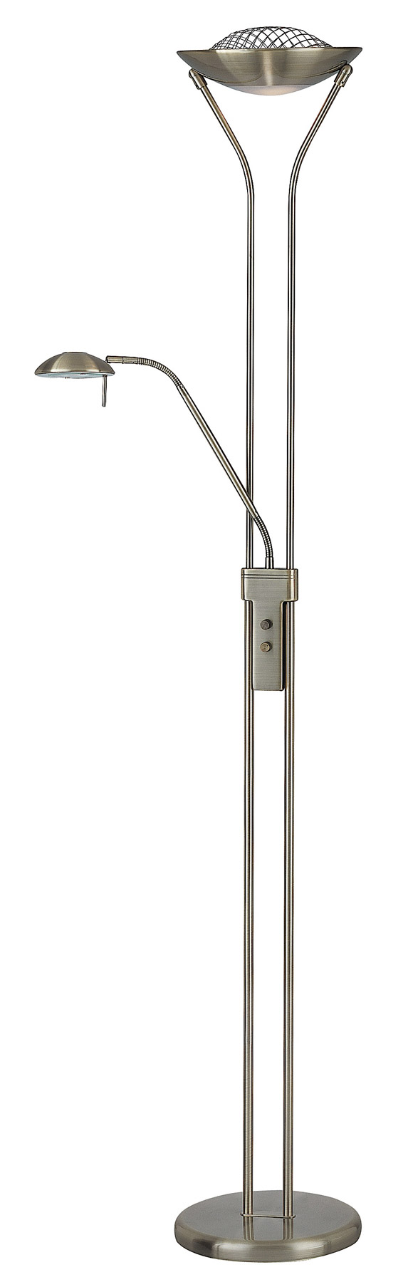 Lite Source Ls 80984ab Duality Torchiere Floor Lamp With Adjustable Reading Light