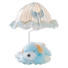 Lite Source IK-6090BLU Childrens Puppy Lamp