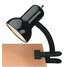 Lite Source LS-111BLK Gooseneck Clip-On Desk Lamp