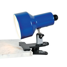 Lite Source LS-114BLU Clip-On II Blue Clamp-on Lamp