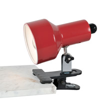 Lite Source LS-114RED Clip-On II Red Clamp-on Lamp
