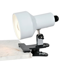 Lite Source LS-114WHT Clip-On II White Clamp-on Lamp