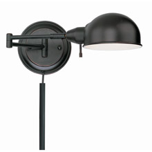 Lite Source LS-16753AGED/CP Rizzo Swing-Arm Wall Lamp