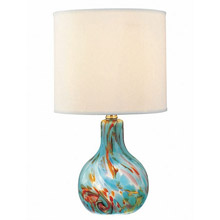 Lite Source LS-20073AQUA Pepita Table Lamp