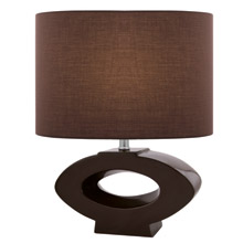 Lite Source LS-21646COFFEE Kenadia Oval Table Lamp