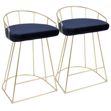 LumiSource B26-CNRY AU+BU2 Canary Counter Stools (Set of 2)