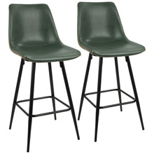 LumiSource B26-DRNG BK+GN2 Durango Counter Stools (Set of 2)