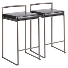 LumiSource B26-FUJI AN+BK2 Fuji Counter Stools (Set of 2)