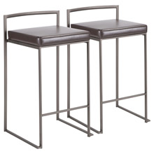 LumiSource B26-FUJI AN+BN2 Fuji Counter Stools (Set of 2)