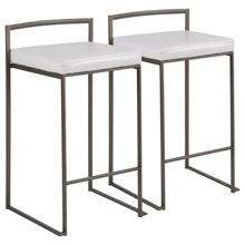 LumiSource B26-FUJI AN+W2 Fuji Counter Stools (Set of 2)
