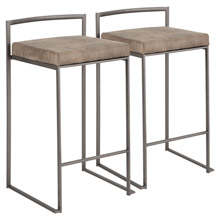 LumiSource B26-FUJI ANFBN2 Fuji Counter Stools (Set of 2)