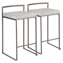 LumiSource B26-FUJI ANLGY2 Fuji Counter Stools (Set of 2)