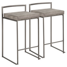 LumiSource B26-FUJI ANSTN2 Fuji Counter Stools (Set of 2)