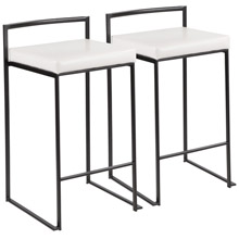 LumiSource B26-FUJI BK+W2 Fuji Counter Stools (Set of 2)
