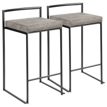 LumiSource B26-FUJI BKSTN2 Fuji Counter Stools (Set of 2)