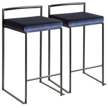 LumiSource B26-FUJI BKVBU2 Fuji Counter Stools (Set of 2)