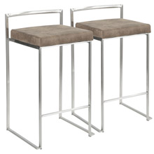 LumiSource B26-FUJI FBN2 Fuji Counter Stools (Set of 2)